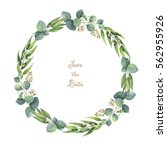 Watercolor Hand Painted Round...