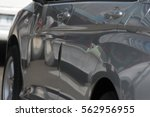 reflection on body of car | Shutterstock . vector #562956955