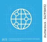 world globe icon | Shutterstock .eps vector #562958452