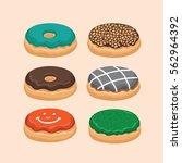 donut vector with butter   Shutterstock .eps vector #562964392