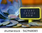 finance conceptual image with... | Shutterstock . vector #562968085