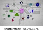 group of colorful application... | Shutterstock . vector #562968376