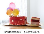 Homemade Red Birthday Cake Wit...