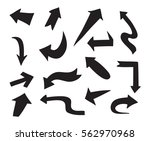 hand drawn arrows.doodle arrows ... | Shutterstock .eps vector #562970968