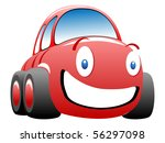 funny race car vector... | Shutterstock .eps vector #56297098