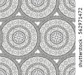 black and white vector ethnic... | Shutterstock .eps vector #562971472