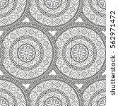 black and white vector ethnic... | Shutterstock .eps vector #562971472