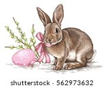 Easter Rabbit Bunny Engrave...