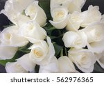 Stock photo bouquet of fresh white wedding roses flower bright background sign of love 562976365