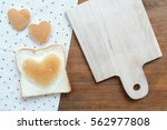 heart shape bakery for... | Shutterstock . vector #562977808