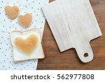heart shape bakery for... | Shutterstock . vector #562977808