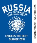 russia soccer player graphic... | Shutterstock .eps vector #562981825