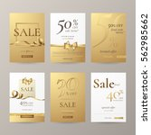set of elegant sale banners... | Shutterstock .eps vector #562985662