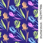 floral seamless background... | Shutterstock .eps vector #562997986