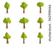 vector illustration of tree set ... | Shutterstock .eps vector #562998466