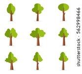 vector illustration of tree set ... | Shutterstock .eps vector #562998466