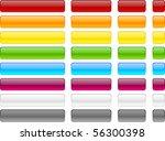 long and short web buttons. | Shutterstock .eps vector #56300398