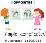 opposite words for simple and... | Shutterstock .eps vector #563007355