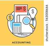 accounting vector icon | Shutterstock .eps vector #563008666