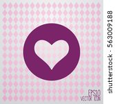 heart vector icon. | Shutterstock .eps vector #563009188