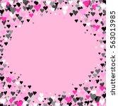 pink round circle border frame... | Shutterstock .eps vector #563013985