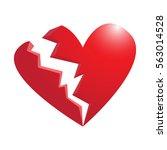 broken heart isolated on white...   Shutterstock .eps vector #563014528