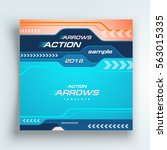 flyer arrows and tabs cover... | Shutterstock .eps vector #563015335