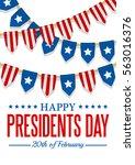 presidents day background. usa... | Shutterstock .eps vector #563016376