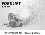 forklift is composed of... | Shutterstock .eps vector #563016592