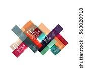 geometric modern infographic... | Shutterstock .eps vector #563020918