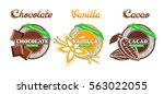 various desert labels | Shutterstock .eps vector #563022055