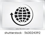 globe and arrow icon vector eps ... | Shutterstock .eps vector #563024392
