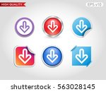 colored icon or button of down... | Shutterstock .eps vector #563028145