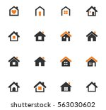 houses icon set for web sites... | Shutterstock .eps vector #563030602