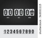 countdown timer. clock counter. ... | Shutterstock .eps vector #563031115