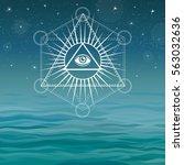 underwater pyramids. bermuda... | Shutterstock .eps vector #563032636