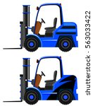 two designs on blue forklifts...