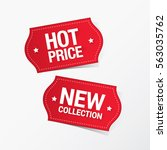 hot price and new collection... | Shutterstock .eps vector #563035762
