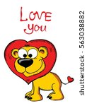 valentine's day greeting card... | Shutterstock .eps vector #563038882