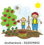 farming kids collection | Shutterstock .eps vector #563039842