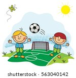 soccer kids collection | Shutterstock .eps vector #563040142