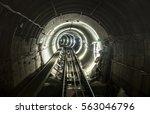 underground mine pit tunnel... | Shutterstock . vector #563046796