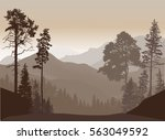 illustration with brown hills... | Shutterstock .eps vector #563049592