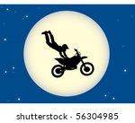 motorbike stunt moon