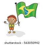brazil flag kids collection | Shutterstock .eps vector #563050942