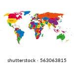 multi colored political vector... | Shutterstock .eps vector #563063815