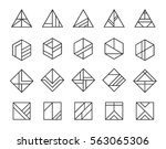 vector set of abstract linear... | Shutterstock .eps vector #563065306