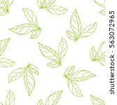 seamless pattern of leaf | Shutterstock . vector #563072965