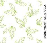 seamless pattern of leaf | Shutterstock . vector #563072965