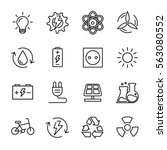 set of energy icons in modern... | Shutterstock .eps vector #563080552